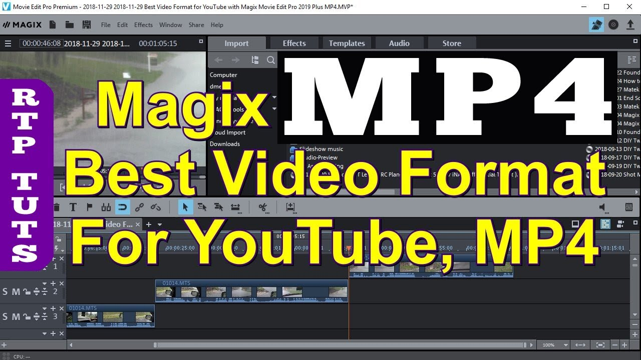 Best Video Format for YouTube with Magix Movie Edit Pro 2019 Plus MP4