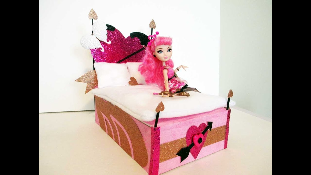 How To Make A CA Cupid Doll Bed Tutorial Monster High