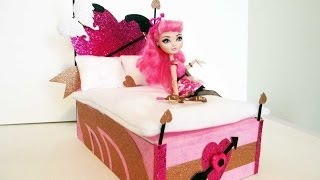 How to make a C.A. Cupid doll bed tutorial/ Monster High/ Ever After High