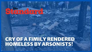 Girl emotionally pleads with arsonists who burnt their house for the second time to give them peace