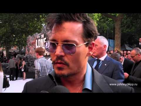 Actor Johnny Depp is seen on the red carpet at the 'Lone Ranger' UK premiere