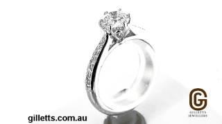 1ct certified diamond engagement ring