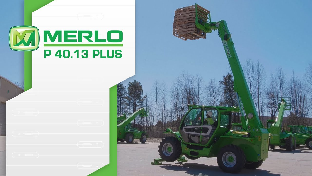 Merlo P40.13 PLUS - Compact Telehandler with Stabilizers