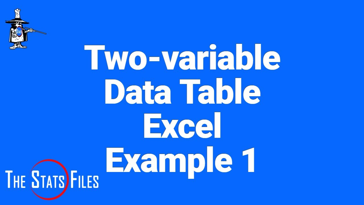 Two Variable Data Table In Excel Evans Chapter 9 Youtube