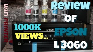 UNBOXING EPSON L3060 WIRELESS PRINTER DIRECT WIFI FUNCTION REVIEW HINDI