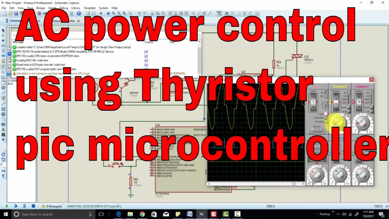 hight resolution of variable ac power control with thyristor using pic microcontroller circuit diagram of ac power control with thyristor using pic