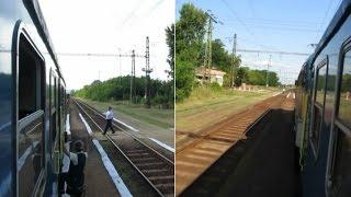 Hungary: Load 1 passenger service leaves Hejokeresztúr station between Tiszaujvaros - Nyekladhaza