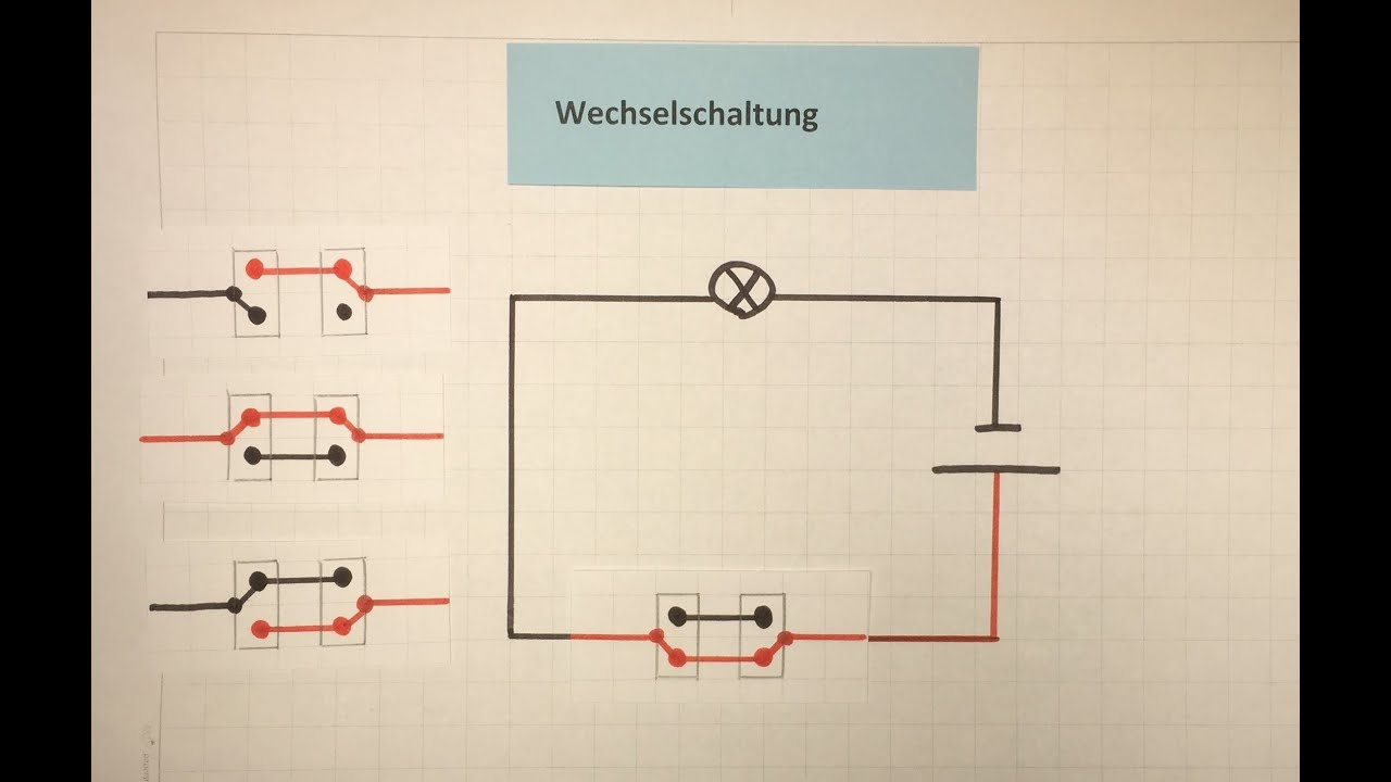 Wechselschaltung - Elektrizität | Physik | Lehrerschmidt - YouTube