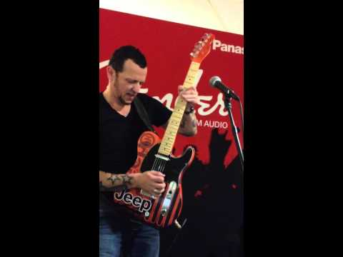 Gary Hoey Linus & Lucy On a Jeep Guitar at Chrysler Headquarters - Fender Promo