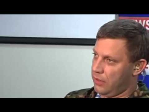 Ukraine War Donetsk rebel leader in collusion with the Russian TV