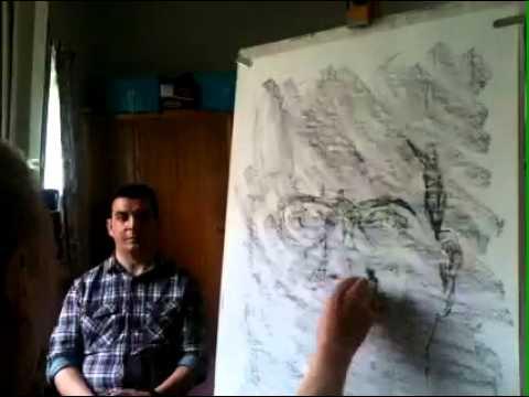 Timelapse hypnosis art. Steve Huison