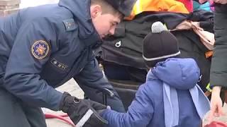2019-02-27 г. Брест. Акция МЧС «Единый день безопасности».  Новости на Буг-ТВ. #бугтв