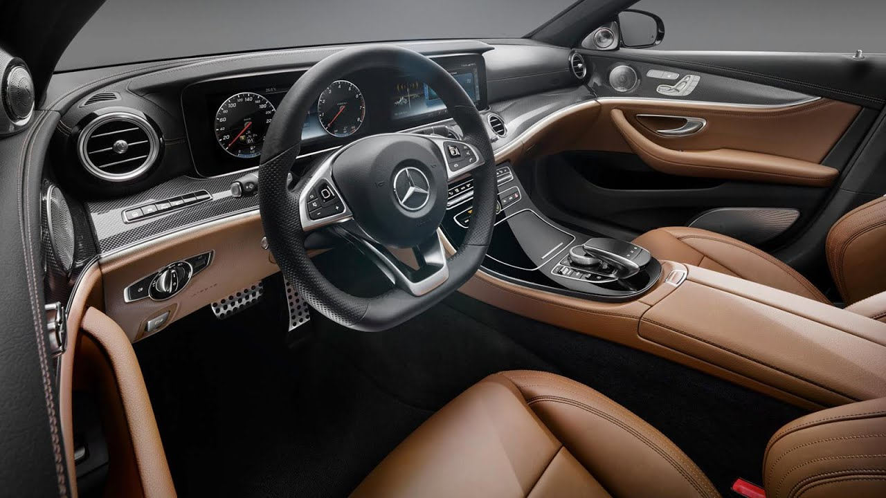 Mercedes V Class >> Mercedes E-class W213 2016 - interior without camouflage - YouTube
