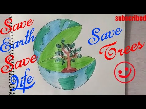 Posters on save environment save trees