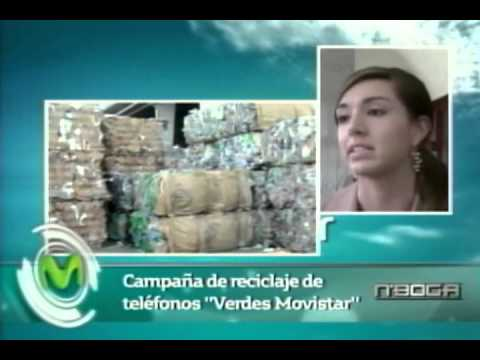 Campaña de reciclaje de teléfonos Verdes Movistar