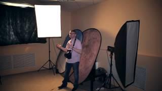 Портретная фото видео съемка. Световая схема. Для начинающих. Урок 3