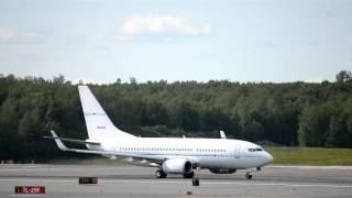 Continental Oil Co. Boeing 737-700 [N959BP] takes off from Anchorage