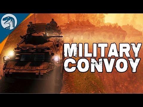 TROOP TRANSPORT CONVOY | BTR-80 | Spintires Multiplayer Gameplay