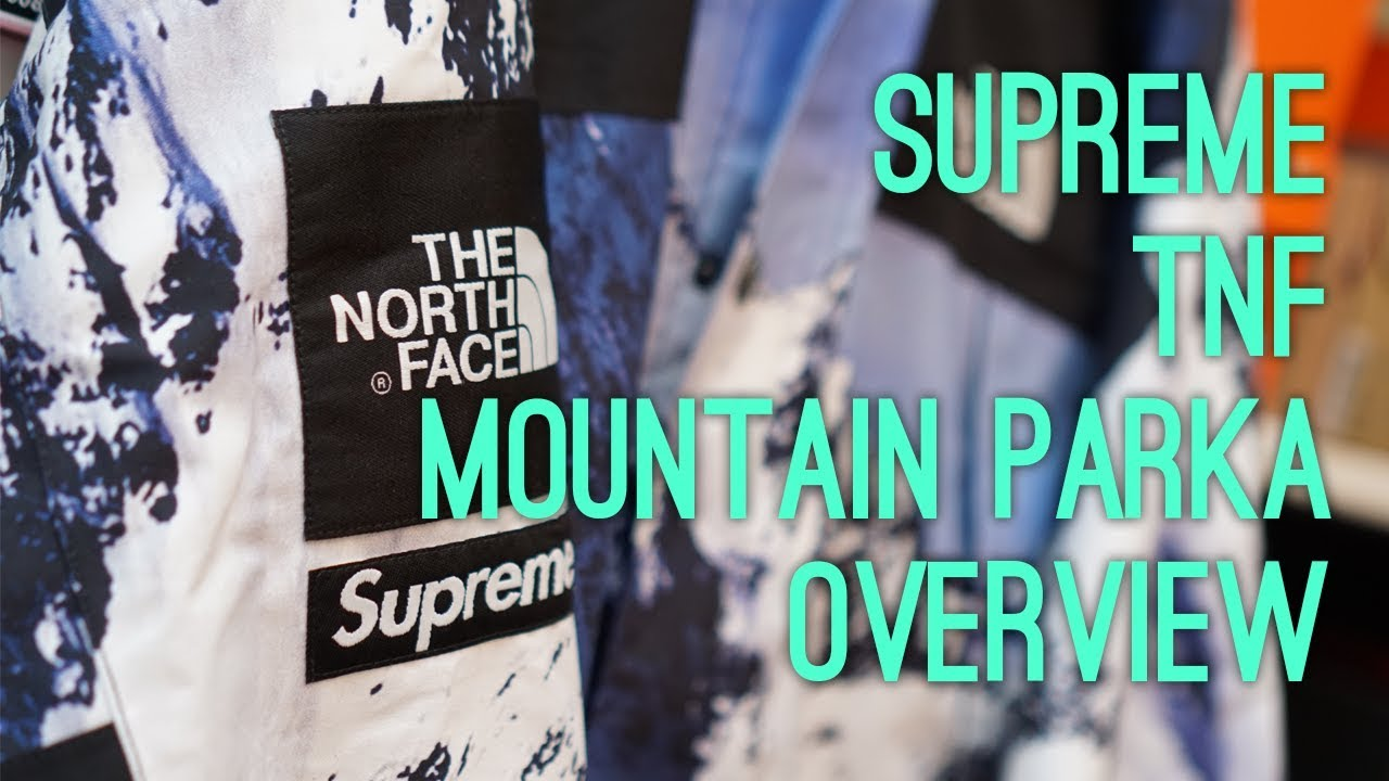 ced38c8ae Supreme x The North Face F/W 17 Mountain Parka (Mountain Print) Overview