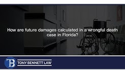 How are future damages calculated in a wrongful death case in Florida?