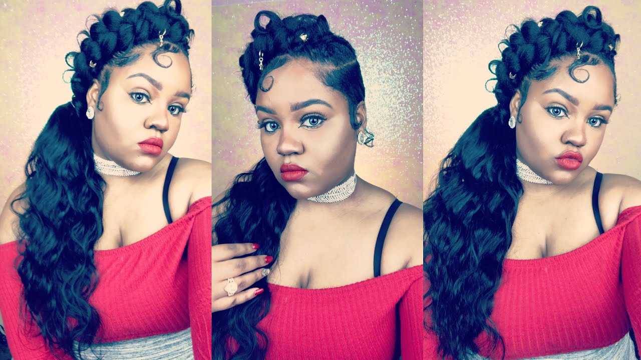 DIY Butterfly Braid Ponytail Sunber Hair Body Wave YouTube