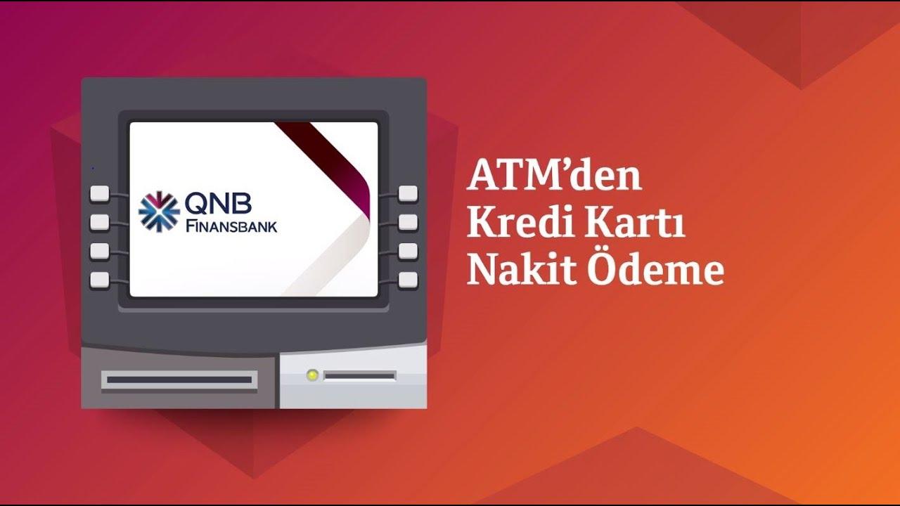 QNB Finansbank ATM'lerinden Kredi Kartını Nakit Ödeme