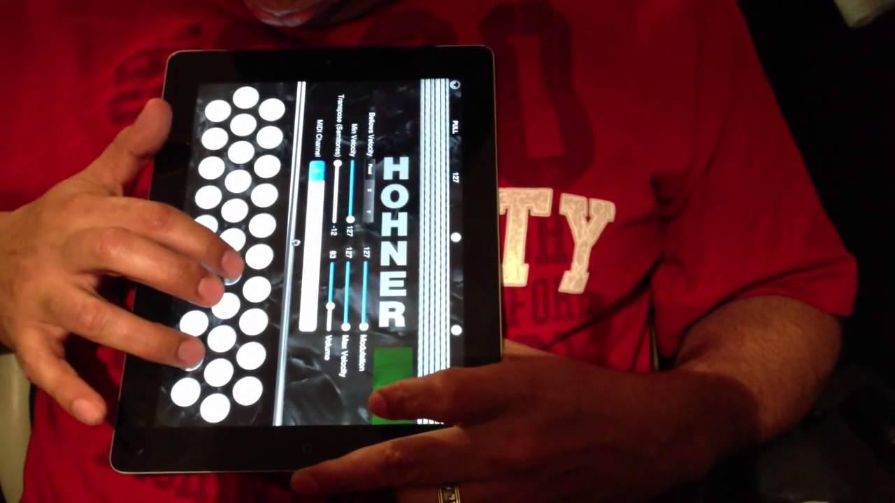 Hohner MIDI Squeezebox App Demo with ThumbJam