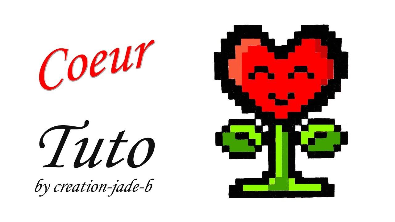 Tuto Pixel Art Coeur Fleur Kawaii Saint Valentin Youtube