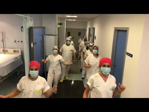 Felicitación de los trabajadores de Urgencias del hospital de Soria
