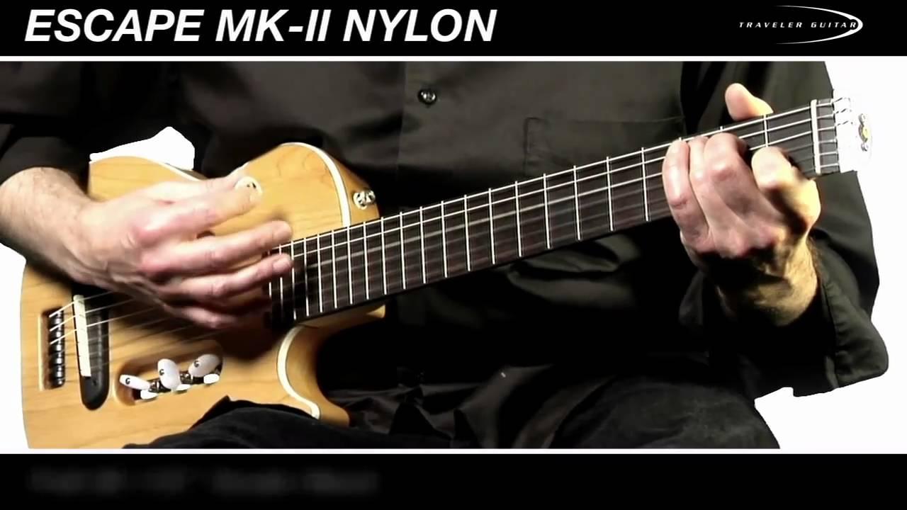 traveler guitars escape mk ii nylon classical travel guitar youtube. Black Bedroom Furniture Sets. Home Design Ideas