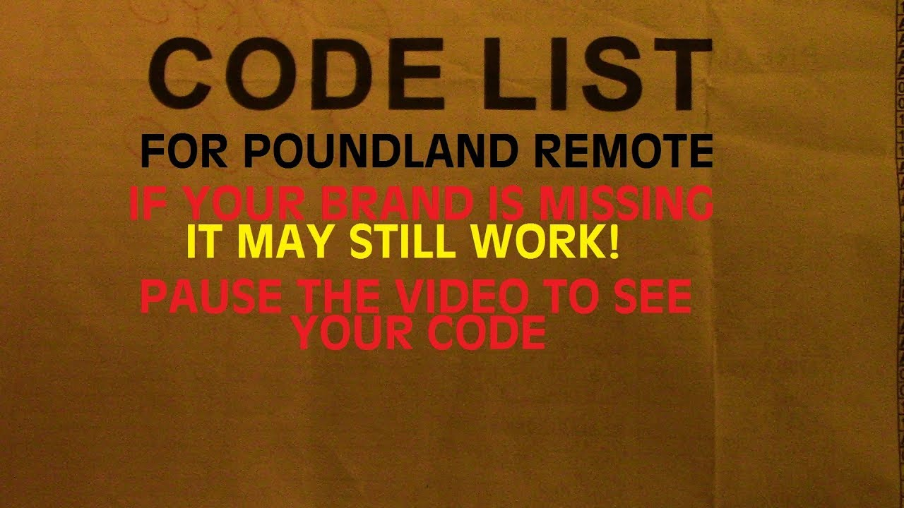 Poundland Remote REAL REVIEW 2 Years Later CODE LIST