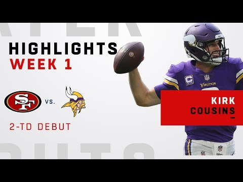 Kirk Cousins' 2 TDs in Debut w/ Vikings