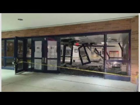 Francis Howell Central High School closed after car crashes into building
