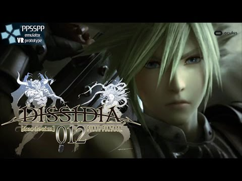 Dissidia 012 Final Fantasy - PPSSPP VR - PlayStation Portable emulator - Oculus Rift DK2