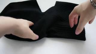 Черная мужская шапка шлем из 100% кашемира