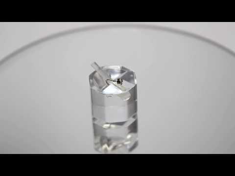 Пирсинг для носа с бриллиантом из белого золота