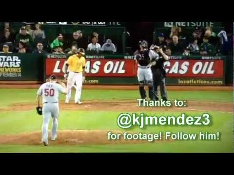 Coco Crisp of Oakland A's uses BERNIE LEAN as his batting song