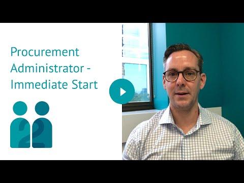 Procurement Administrator - Immediate Start