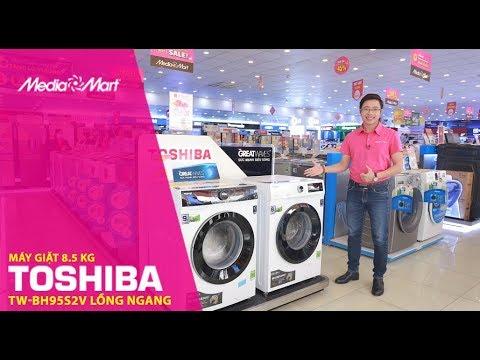 Máy giặt 8,5 Kg Toshiba TW-BH95S2V lồng ngang: Giặt cực nhanh