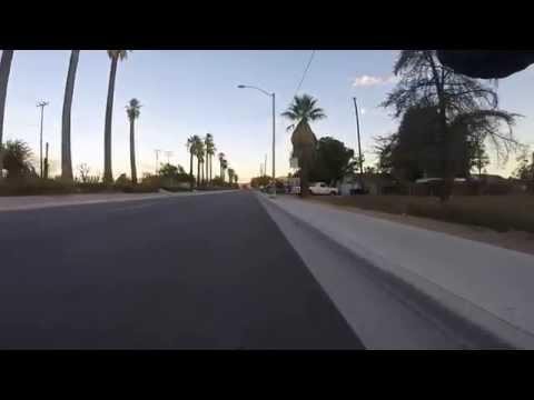 Evening Fixie Ride around Riverside, CA (normal speed)