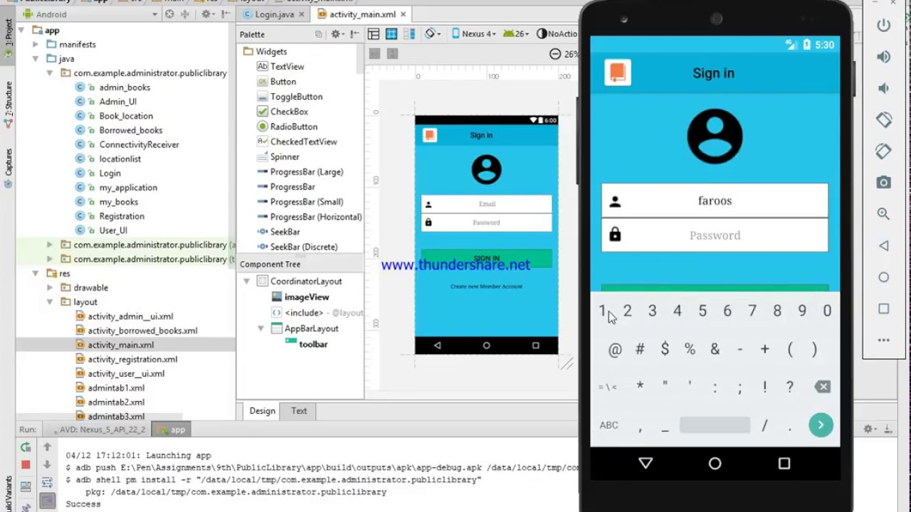 Simple Library Management App In Android + Firebase With Source code