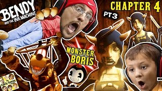 Download BORIS the MONSTER WOLF & Two Alice Angels? Bendy & the Ink Machine BOSS Fight (FGTEEV Chapter 4 #3) Mp3 and Videos