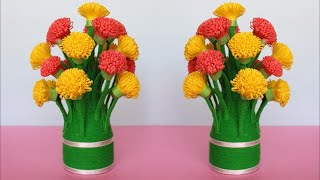 Best out of Waste idea using Shopping Bag And Plastic Bottle || DIY || Flower vase decoration ideas