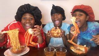 Ratchet seafood boil MUKBANG