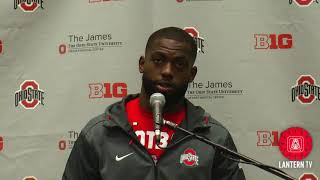 Ohio State QB J.T. Barrett speaks after his team's 39-38 win over Penn State.
