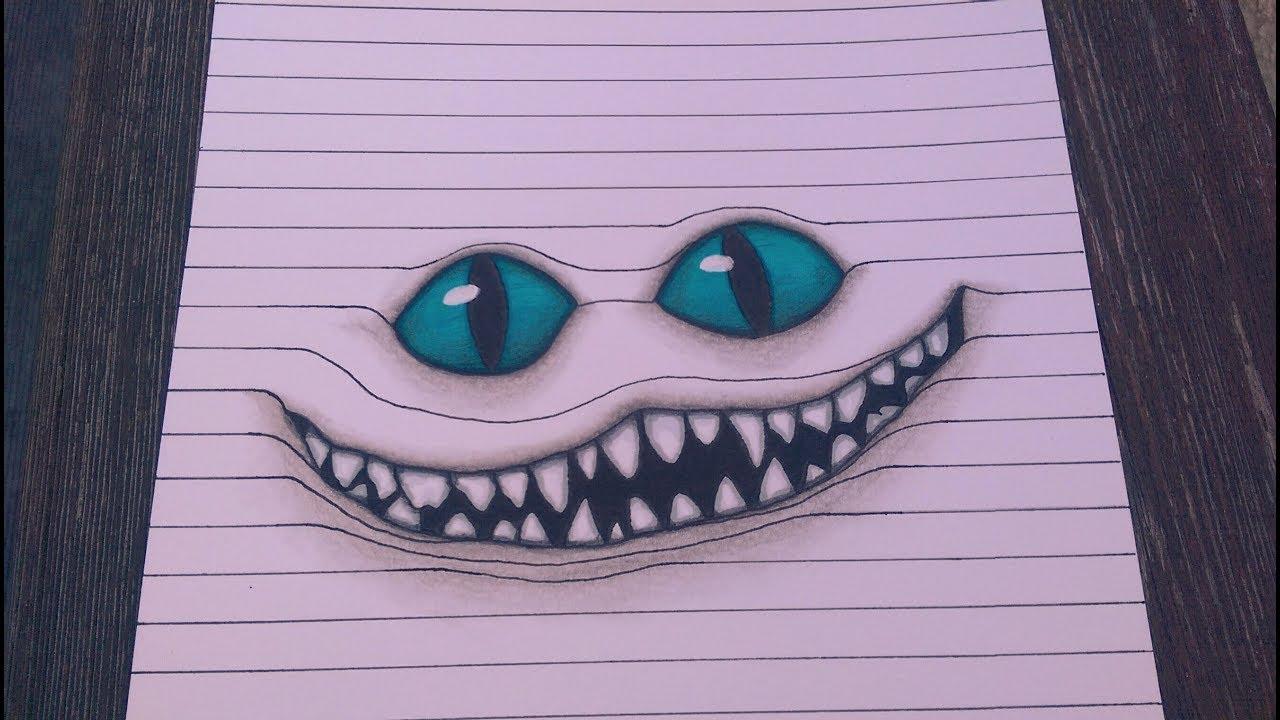 Optical Illusion Cheshire Cat Grinsekatze Youtube