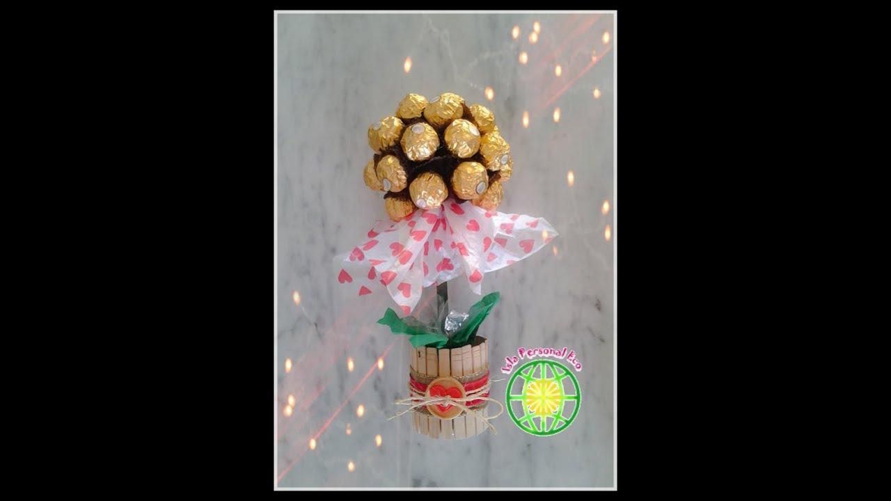 Topiario Con Bombones De Chocolate Chocolates Topiary