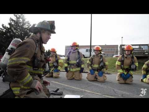 Frederick County Fire Training Academy ladder training