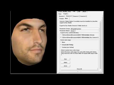 Facegen Tutorial How To Make Celebrity 3d Model Jason Momoa In Daz3d