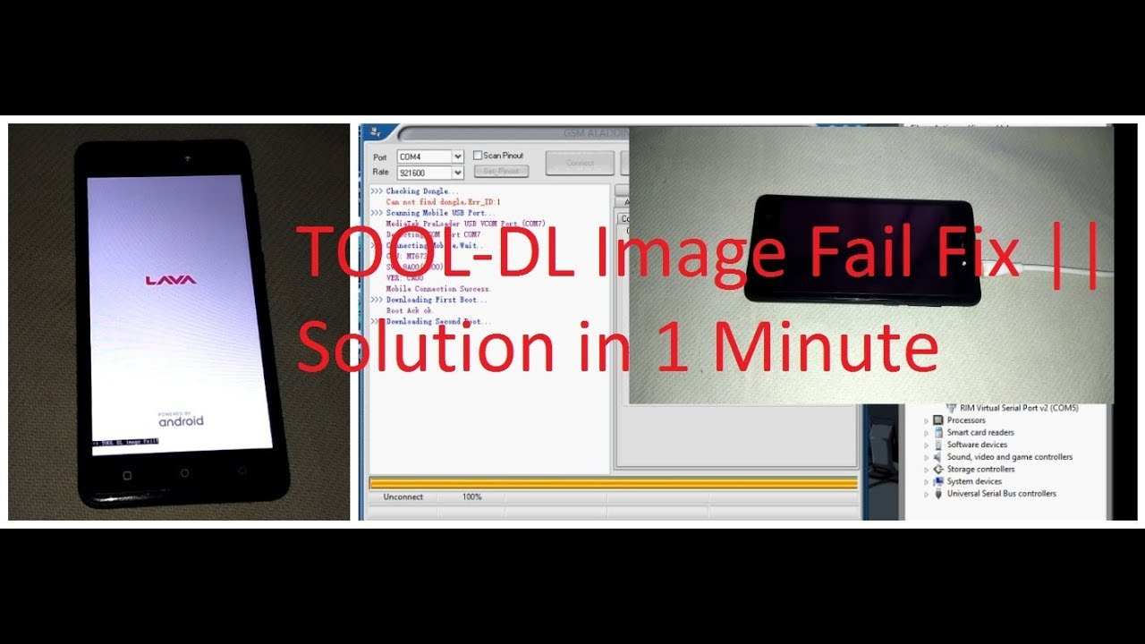 Lava Z60 | Z10 | Z80 | Z90 TOOL DL image Fail Solution Fix 7 0 | 7 1 1 |  7 1 2